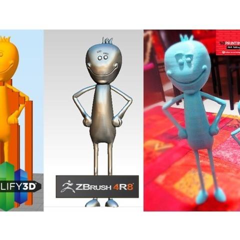 objet 3d gratuit M. Meeseeks de Rick & Morty., 3DGuyDubai