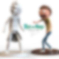 Free 3d printer designs Rick and Morty Combo Characters, 3DGuyDubai