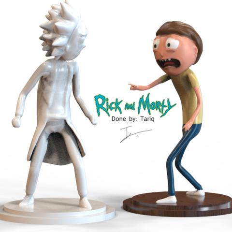 Free STL Rick and Morty Combo Characters, 3DGuyDubai