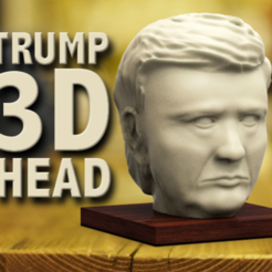 archivos stl Cabeza de Trump 3D gratis, 3DGuyDubai