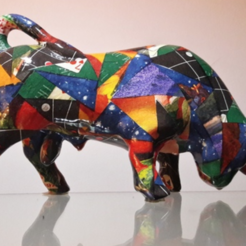 Free 3d printer designs Bull, 3DGuyDubai