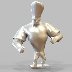 Free stl files Johny Bravo Figurine, 3DGuyDubai