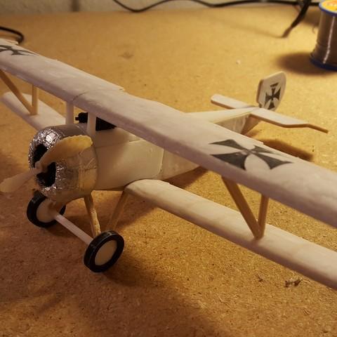 20171014_003614.jpg Download STL file Nieuport 17, WW1 Warplane • 3D printing design, JimmyHo