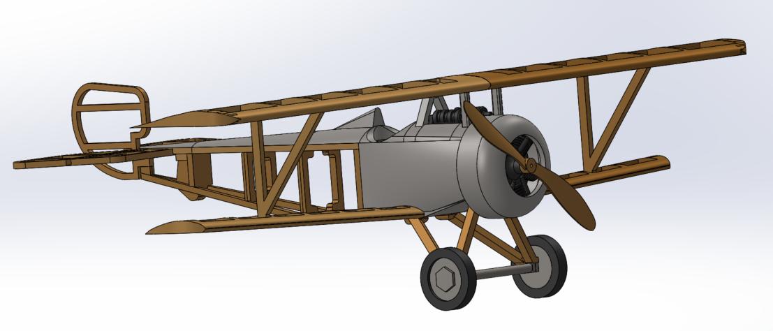 1.png Download STL file Nieuport 17, WW1 Warplane • 3D printing design, JimmyHo