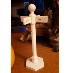 Download free 3D print files Poteau décoratifs avec noms ou lieux, guiguibdm