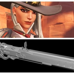 Download 3D printer designs Ashe's Winchester Rifle (Overwatch), MarduProductions
