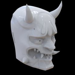 Download 3D printer templates Genji Oni Mask (Overwatch), MarduProductions