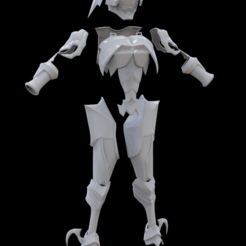 Download 3D printer designs Aqua's armor Kingdom Hearts, MarduProductions
