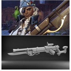 Download 3D printer designs Ana's corsair rifle (Overwatch), MarduProductions