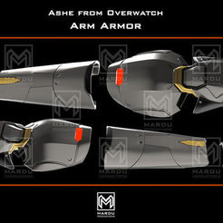 Download 3D printer files Ashe's Arm armor (Overwatch), MarduProductions