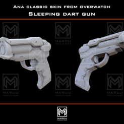 Download 3D printer model Ana's sleeping dart gun (Overwatch), MarduProductions