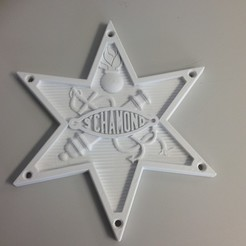 Free 3D printer files LOGO FAMH char saint chamond, LaurentMondon