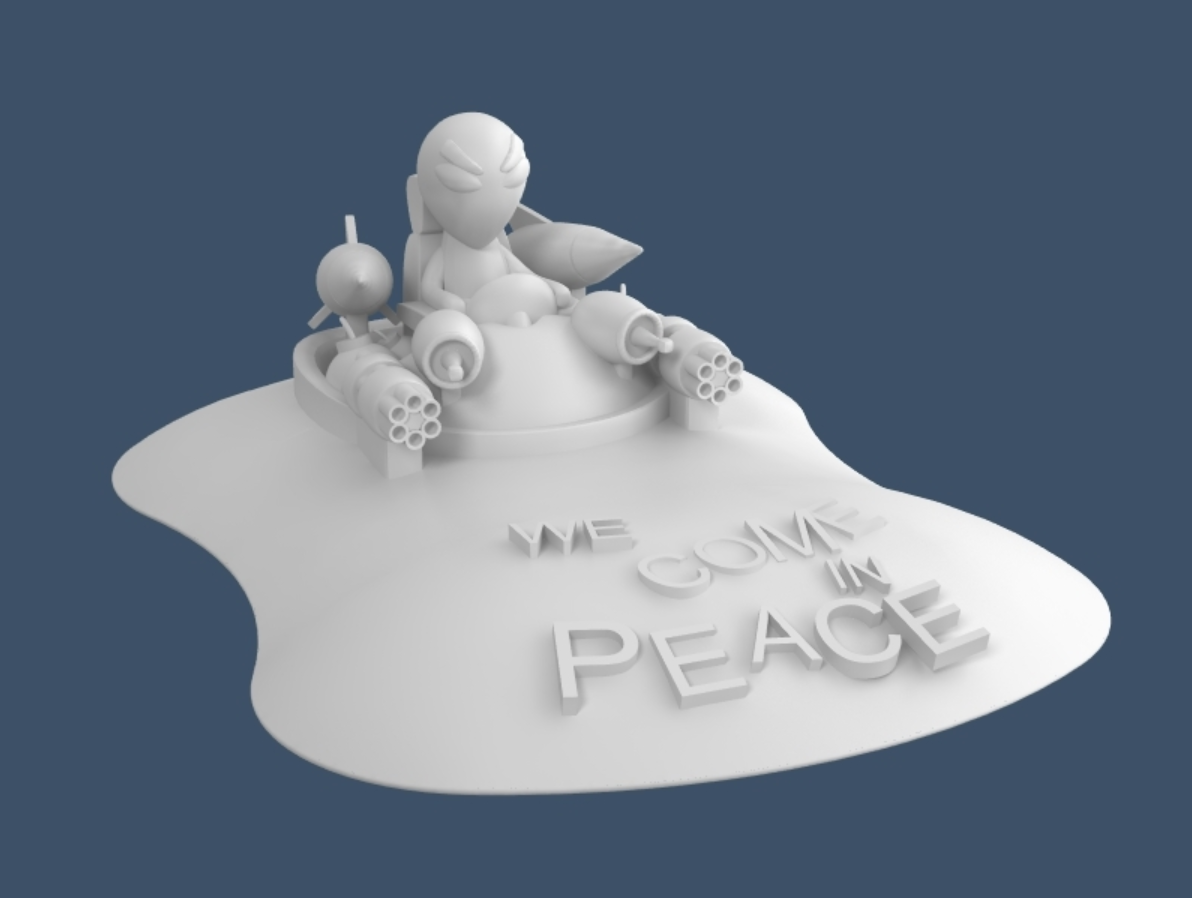 Capture d'écran 2017-10-31 à 09.33.40.png Download free STL file We Come in Peace (NOT) • Object to 3D print, 3deran