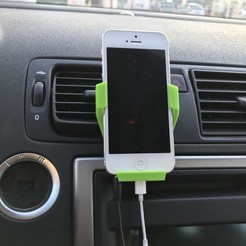 Download free 3D printing models iphone 5/5S/SE car holder, zamo