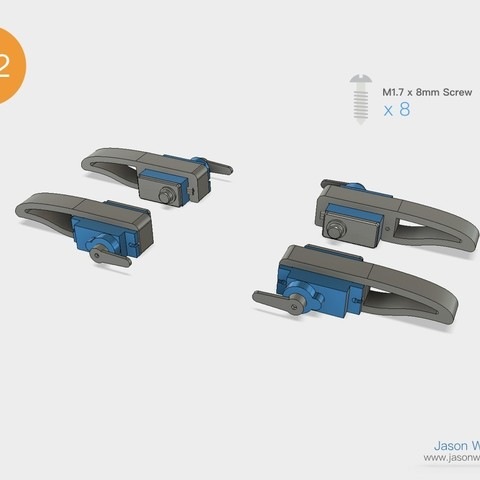 Q1mini_instructions.037.jpeg Download free STL file Q1 mini Quadruped Robot 2.0 (Designed by Jason Workshop) • 3D printing design, Jason8866