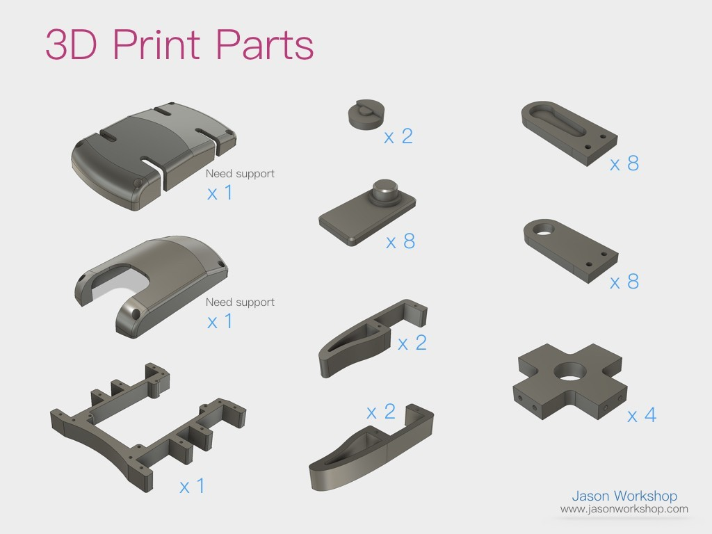 Q1mini_instructions.005.jpeg Download free STL file Q1 mini Quadruped Robot 2.0 (Designed by Jason Workshop) • 3D printing design, Jason8866
