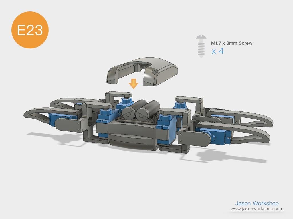 Q1mini_instructions.048.jpeg Download free STL file Q1 mini Quadruped Robot 2.0 (Designed by Jason Workshop) • 3D printing design, Jason8866