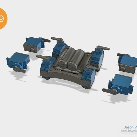 Q1mini_instructions.034.jpeg Download free STL file Q1 mini Quadruped Robot 2.0 (Designed by Jason Workshop) • 3D printing design, Jason8866