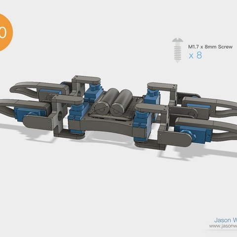 Q1mini_instructions.045.jpeg Download free STL file Q1 mini Quadruped Robot 2.0 (Designed by Jason Workshop) • 3D printing design, Jason8866