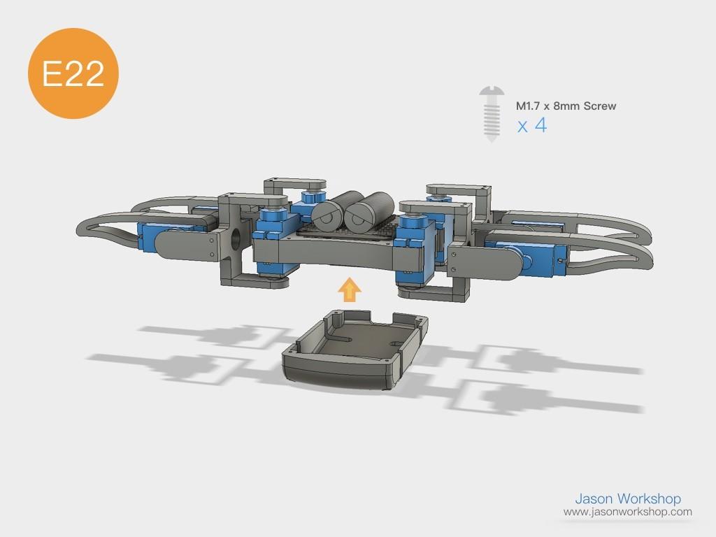 Q1mini_instructions.047.jpeg Download free STL file Q1 mini Quadruped Robot 2.0 (Designed by Jason Workshop) • 3D printing design, Jason8866
