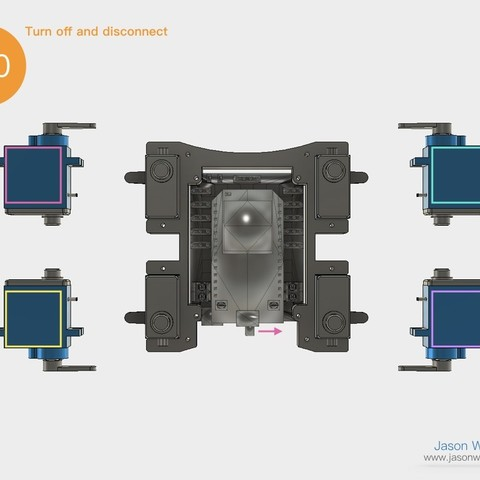 Q1mini_instructions.035.jpeg Download free STL file Q1 mini Quadruped Robot 2.0 (Designed by Jason Workshop) • 3D printing design, Jason8866