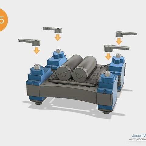 Q1mini_instructions.030.jpeg Download free STL file Q1 mini Quadruped Robot 2.0 (Designed by Jason Workshop) • 3D printing design, Jason8866