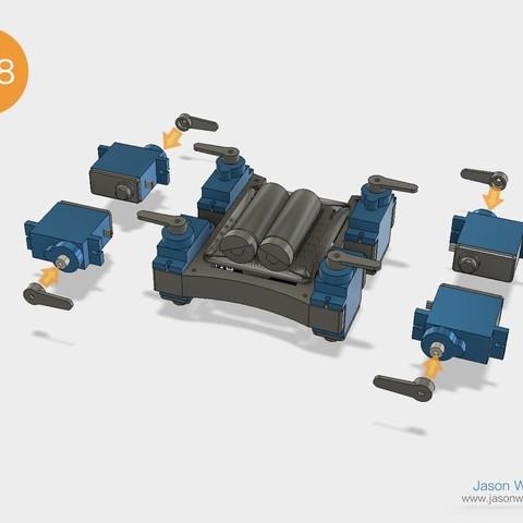 Q1mini_instructions.033.jpeg Download free STL file Q1 mini Quadruped Robot 2.0 (Designed by Jason Workshop) • 3D printing design, Jason8866