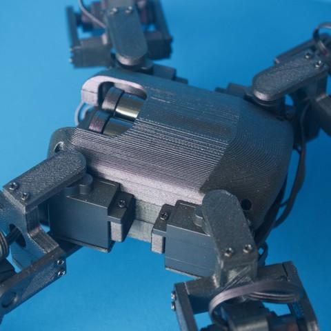 Q1mini006.jpg Download free STL file Q1 mini Quadruped Robot 2.0 (Designed by Jason Workshop) • 3D printing design, Jason8866