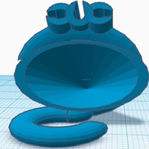 Shower Head Hanger Bag Front.png Télécharger fichier STL gratuit Sac de rangement pour pommeau de douche #DAGOMERLIN • Modèle pour imprimante 3D, XavierJCattoni