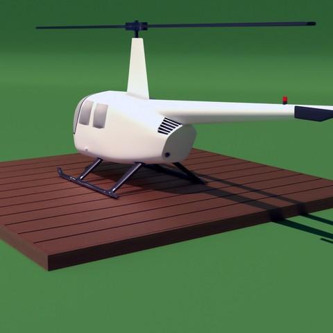 R44_2.jpg Download STL file Robinson Raven R44 3D print model • 3D printer model, Eduardohbm