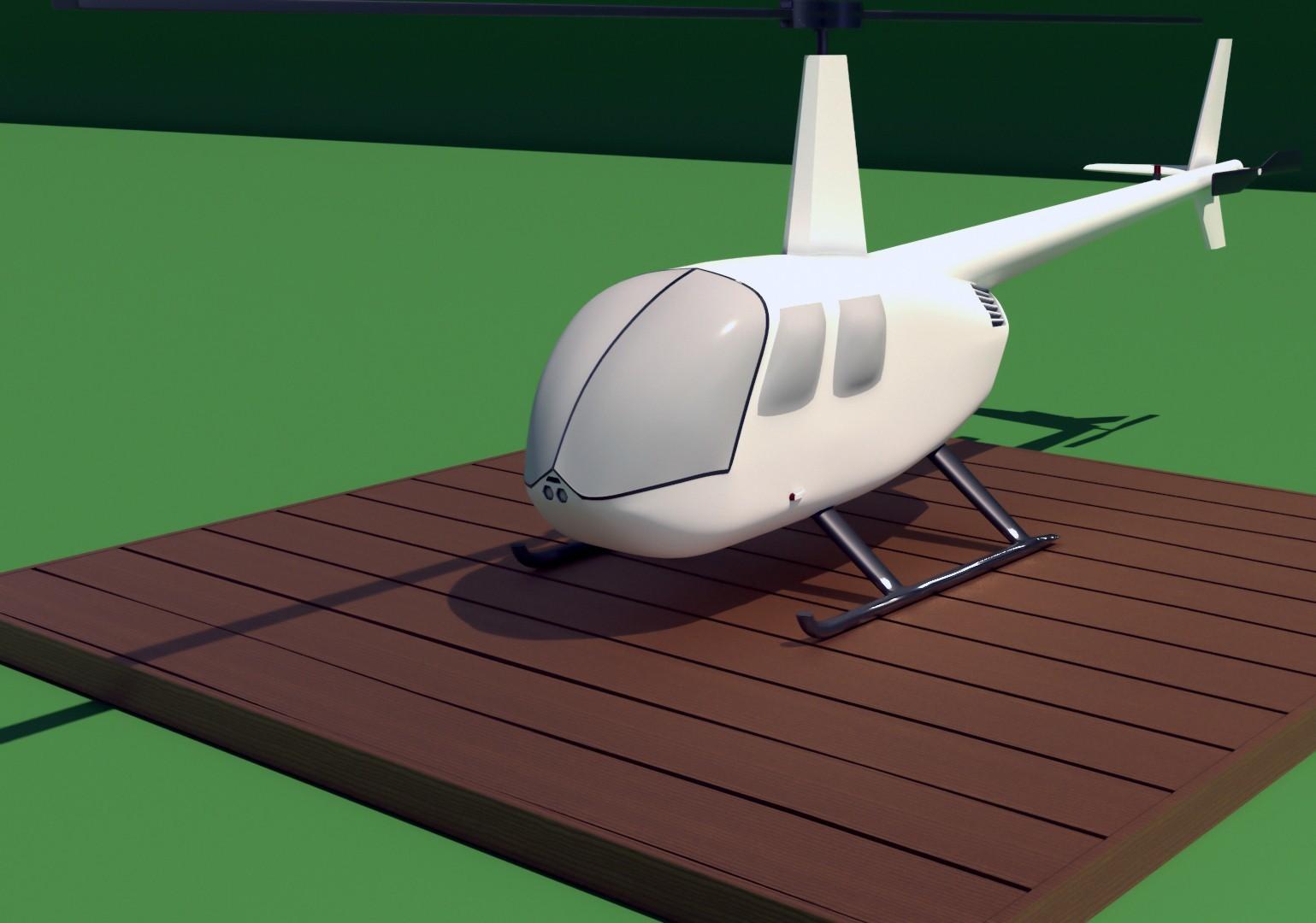 R44_1.jpg Download STL file Robinson Raven R44 3D print model • 3D printer model, Eduardohbm
