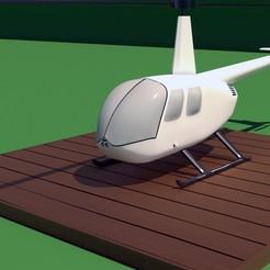 stl file Robinson Raven R44 3D print model, Eduardohbm