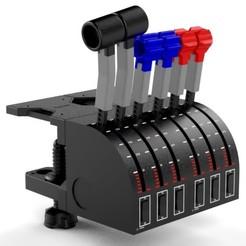 Download 3D printer templates Adaptation of Baron to Saitek double quadrant, Eduardohbm