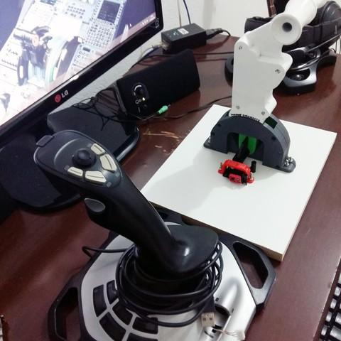 20161027_210430.jpg Download STL file Adapting Boeing to Logitech Extrem 3D Pro 3D print model • 3D printing template, Eduardohbm