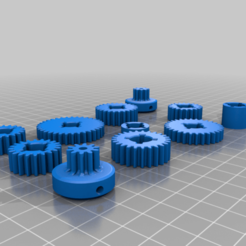 Imprimir en 3D gratis 3dsets Kit de conversión de caja de cambios de dientes rectos, SuperCaterman