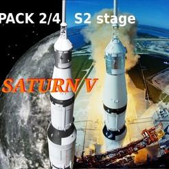 Descargar modelo 3D apolo 15 saturno 5 pack 2/4 etapa S2, theamphioxus