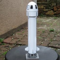 Descargar Modelos 3D para imprimir gratis nuevo cohete Shepard Blue Origin, theamphioxus