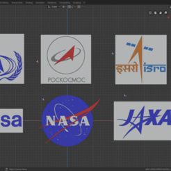 Download free STL file logos space agency • 3D printing design, theamphioxus