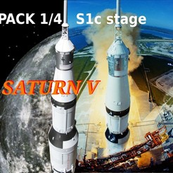 Download 3D printer designs apollo 15 saturn 5 pack 1/4 stage S1C, theamphioxus