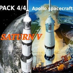 Download 3D print files apollo 15 saturn 5 pack 4/4 vessel Apollo, theamphioxus
