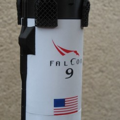 Télécharger plan imprimante 3D spacex falcon 9 crew dragon v2, theamphioxus