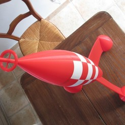 Download free STL file red and white rocket • 3D printer template, theamphioxus