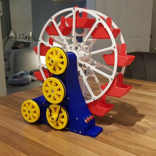 20201218_180908.jpg Download STL file STEAM POWERED FERRIS WHEEL • 3D print model, Boxermad84