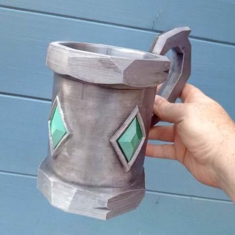 Free 3D printer designs Emerald Tankard, Bugman_140