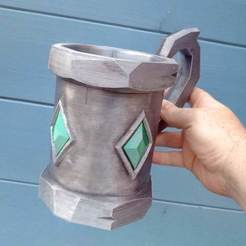 Download free 3D printer templates Emerald Tankard, Bugman_140