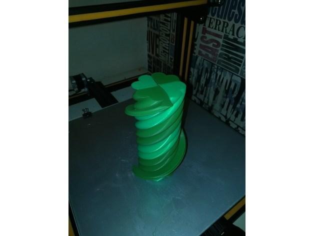 2b786e3b56545311e62c16dfbd8f8687_preview_featured.jpg Download free STL file Twisted 4 Leaf Clover - Single Extruder • 3D print design, Bugman_140