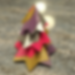 Free 3D printer file Candy Cane Christmas Tree - 4 Colours - Single Extruder, Bugman_140