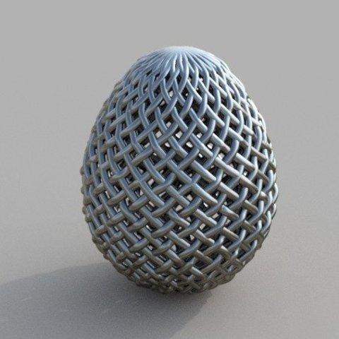 Free 3D printer model Woven Egg, Bugman_140