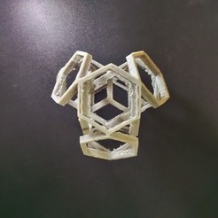 Hexagon art STL file, RedHot