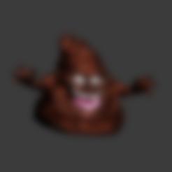 Download free OBJ file Crazy Poop Emoji • Object to 3D print, elnata